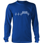 Book heart pulse Long Sleeve - Gifts For Reading Addicts
