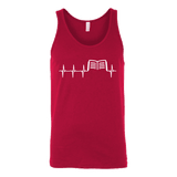 Book heart pulse Unisex Tank - Gifts For Reading Addicts