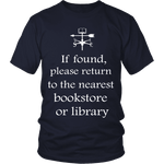 If found return to bookstore - Gifts For Reading Addicts