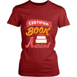Certified book addict Fitted T-shirt - Gifts For Reading Addicts