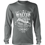 I am a writer Long Sleeve-For Reading Addicts