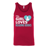This girl loves reading books Unisex Tank-For Reading Addicts