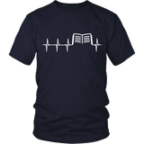 Book heart pulse Unisex T-shirt-For Reading Addicts