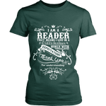 I am a reader Fitted T-shirt - Gifts For Reading Addicts