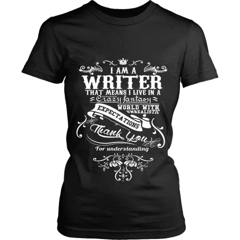 I am a writer Fitted T-shirt - Gifts For Reading Addicts