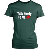 Talk Nerdy To Me Fitted T-shirt - Gifts For Reading Addicts