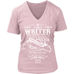 I am a writer V-neck - Gifts For Reading Addicts