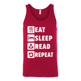 Eat, Sleep, Read, Repeat Unisex Tank-For Reading Addicts