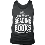 All i care about is reading books Mens Tank-For Reading Addicts