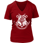 The Hogwarts Crest V-neck - Gifts For Reading Addicts