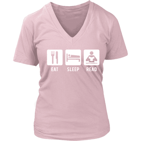 Eat, Sleep, Read V-neck - Gifts For Reading Addicts