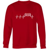 Book heart pulse Sweatshirt - Gifts For Reading Addicts