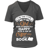 Books and Coffee V-neck-For Reading Addicts