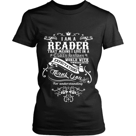 I am a reader Fitted T-shirt-For Reading Addicts