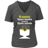 Warning!! Open books lead to pen minds - Gifts For Reading Addicts