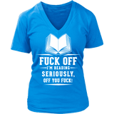 Fuck off - V-neck - Gifts For Reading Addicts