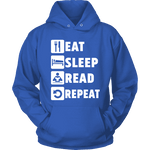 Eat, Sleep, Read, Repeat Hoodie-For Reading Addicts