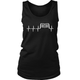 Book heart pulse Womens Tank - Gifts For Reading Addicts
