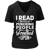 I read because - V-neck-For Reading Addicts