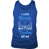 I Like Sleeping, But I Like Reading More Mens Tank - Gifts For Reading Addicts