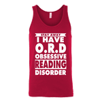 Stay Away I Have O.R.D Unisex Tank Top-For Reading Addicts