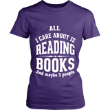 All i care about is reading books Fitted T-shirt - Gifts For Reading Addicts