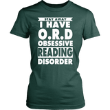 Stay Away I Have O.R.D Fitted T-shirt-For Reading Addicts