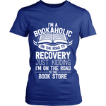I'm a Bookaholic Fitted T-shirt-For Reading Addicts