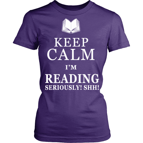 Keep Calm I M Reading Seriously Shh Fitted T Shirt Fra