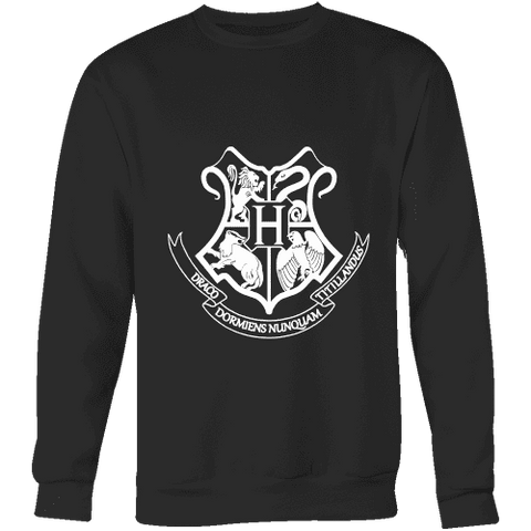 The Hogwarts Crest Sweatshirt-For Reading Addicts