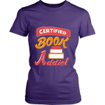 Certified book addict Fitted T-shirt-For Reading Addicts