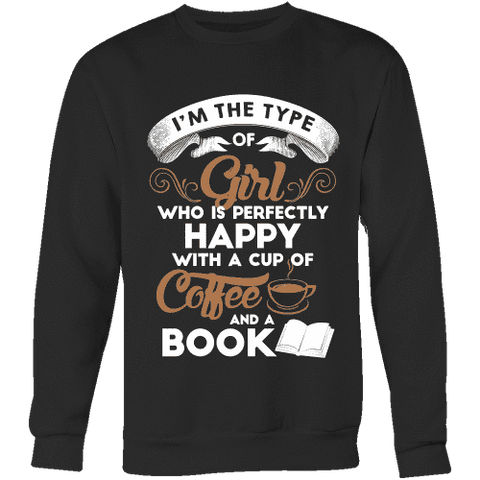 Books and Coffee Sweatshirt - Gifts For Reading Addicts