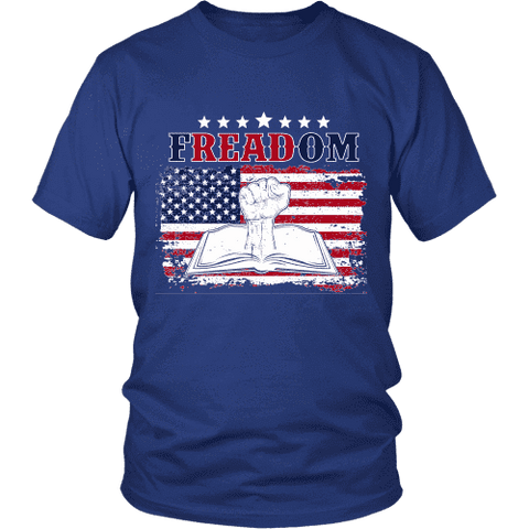 Freadom Unisex T-shirt-For Reading Addicts