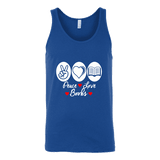 Peace, Love, Books Unisex Tank Top - Gifts For Reading Addicts