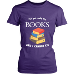 I've Got really Big Books  Fitted T-shirt - For reading addicts - T-shirt - 2