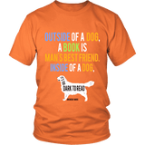 Outside of a dog a book is man's best friend Unisex T-shirt-For Reading Addicts