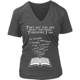 They say you are what you read V-neck-For Reading Addicts