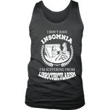 I dont have insomnia I'm suffering from Librocubicularism, Mens Tank Top-For Reading Addicts