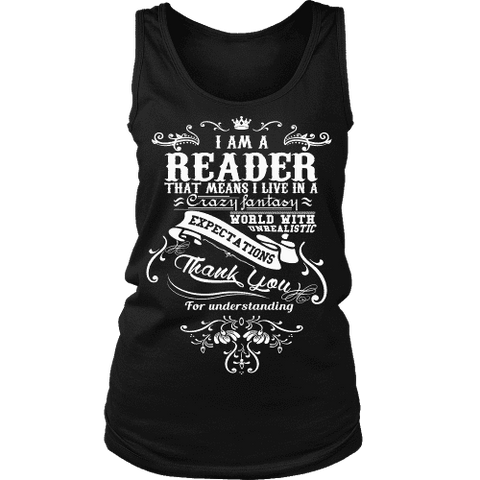 I am a reader Womens Tank-For Reading Addicts