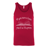 If You Were a Book You Would Be Fine Print Unisex Tank Top - Gifts For Reading Addicts