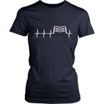 Book heart pulse Fitted T-shirt - Gifts For Reading Addicts