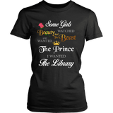 Beauty And The Beast Fitted T-shirt - Gifts For Reading Addicts