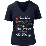 Beauty And The Beast V-neck-For Reading Addicts