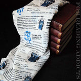 Doctor Who Tardis Handmade Infinity Scarf White Limited Edition - Gifts For Reading Addicts