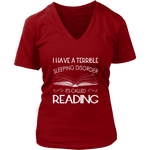 """Sleeping disorder"" V-neck Tshirt - Gifts For Reading Addicts"