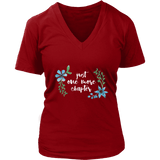 """One more"" V-neck Tshirt - Gifts For Reading Addicts"