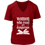 """Women who read"" V-neck Tshirt - Gifts For Reading Addicts"