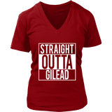 """Straight outta gilead"" V-neck Tshirt - Gifts For Reading Addicts"