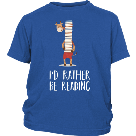"""I'd rather be reading""YOUTH SHIRT"