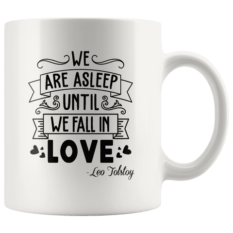 """We fall in love""11oz white mug - Gifts For Reading Addicts"